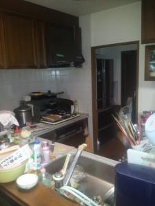 人造大理石のL型キッチン ベリーに交換