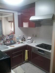 人造大理石のL型キッチン ベリー