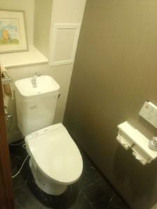 大理石調 クッションフロア トイレ