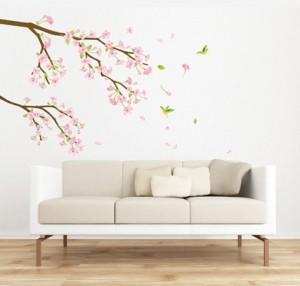 ウォールステッカー 桜